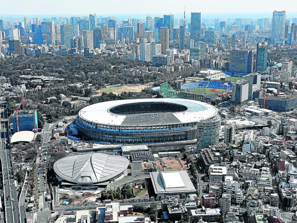En Tokio solo queda por rematar un par de pabellones y el estadio olimpico. La capital japonesa ya está lista para los juegos del año que viene.