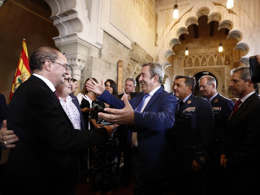 Toma de posesión de Javier Lambán como presidente de Aragón