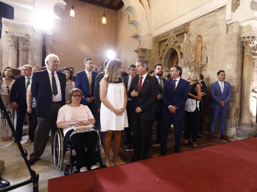 Toma de posesión de Javier Lambán como presidente de Aragón en el palacio de la Aljafería.