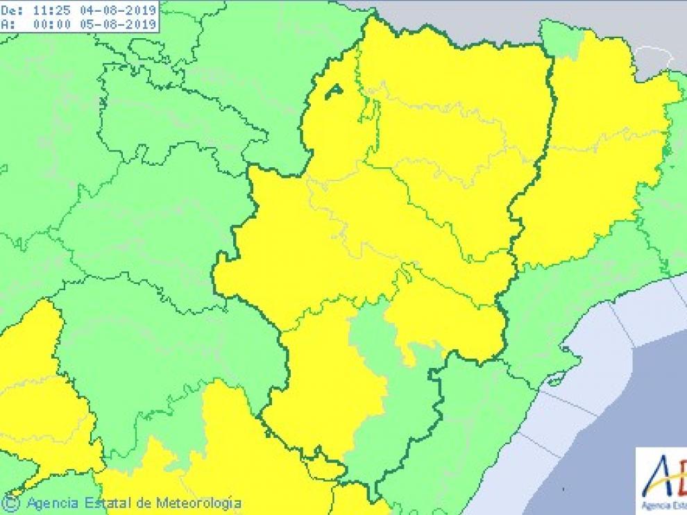 Continúa la alerta por altas temperaturas en casi todo Aragón