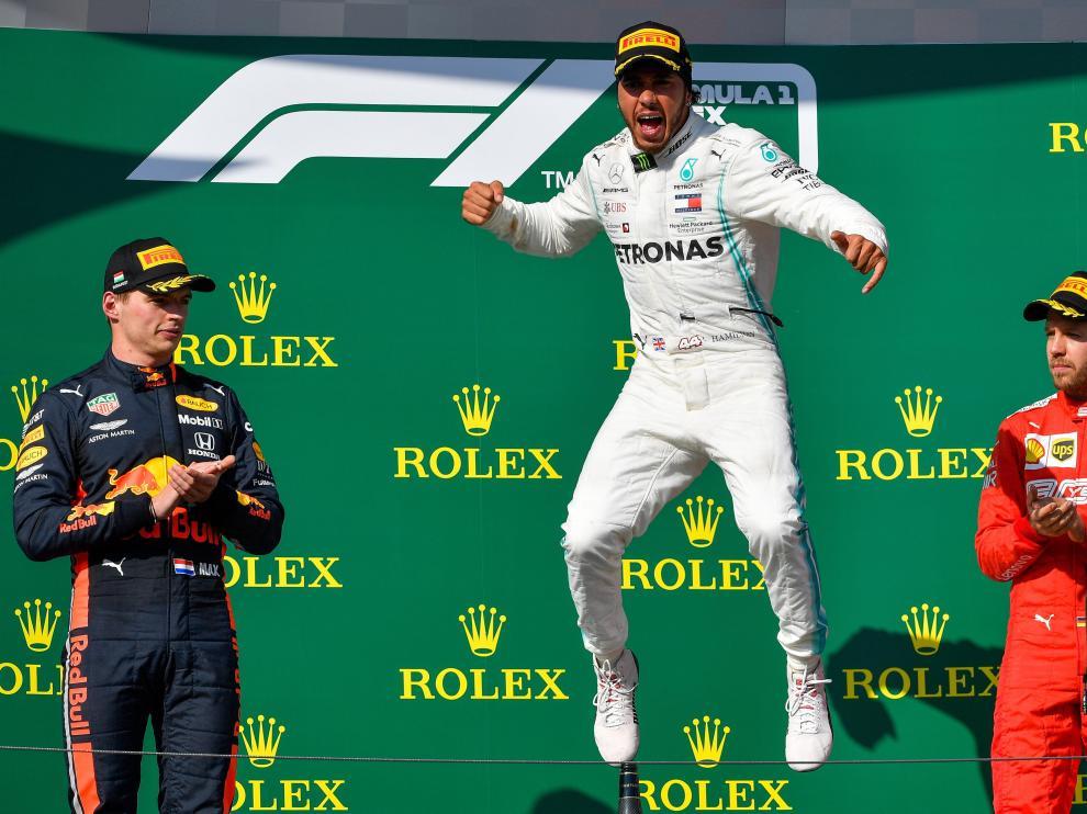 Hamilton tras ganar el Gran Premio de Hungría.