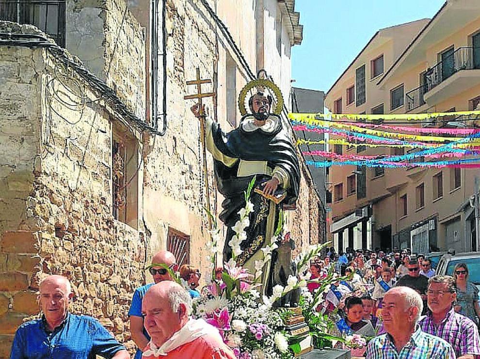 Procesión de Santo Domingo, este domingo en Samper de Calanda.