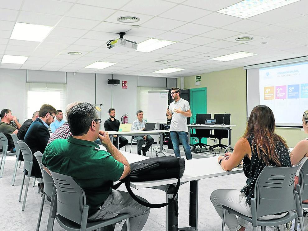 Celebración del Info Day para explicar a emprendedores las características de Porcinnova