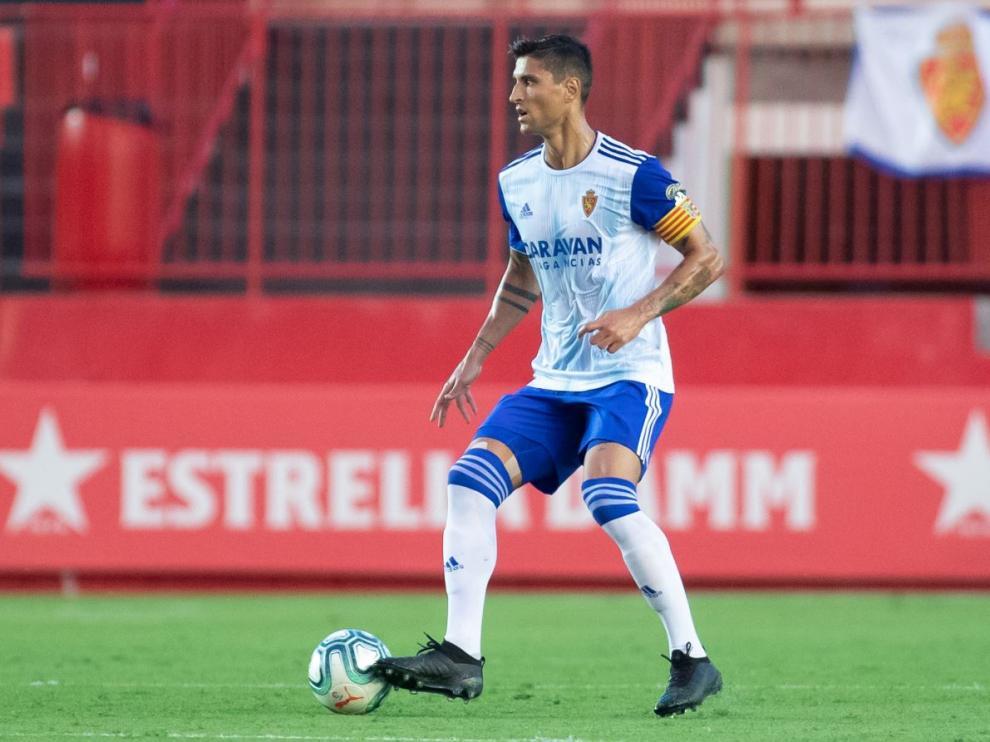 Grippo, el pasado sábado en el Nou Estadi de Tarragona, donde reapareció 9 meses después de haberse roto la rodilla derecha.