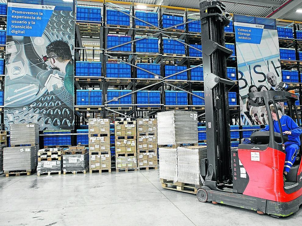 Instalaciones logísticas de BSH Electrodomésticos España en Plaza
