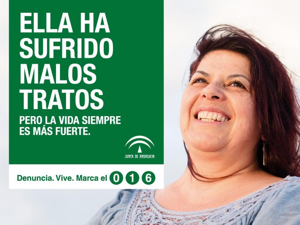 Una de las imágenes de la última campaña contra la violencia de género difundida por la Junta de Andalucía.