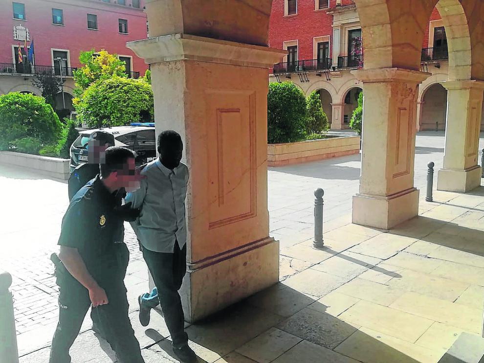 El procesado se dirige al Palacio de Justicia el pasado 24 de julio para ser juzgado.