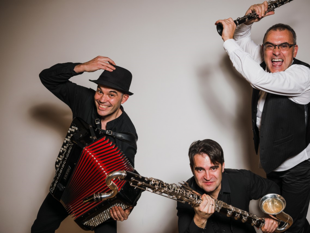 Trivium Klezmer actúa el día 7 de agosto en el Joaquín Roncal de Zaragoza.