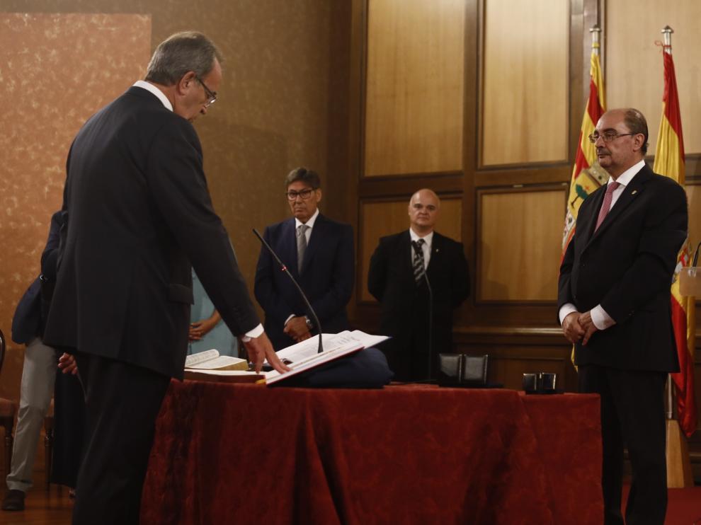 Toma de posesión de los consejeros del nuevo Gobierno de Aragón