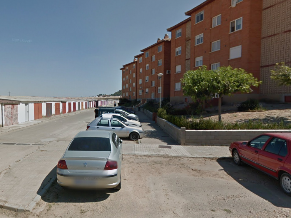 La calle Estercuel de Andorra, Teruel, donde sucedieron los hechos.