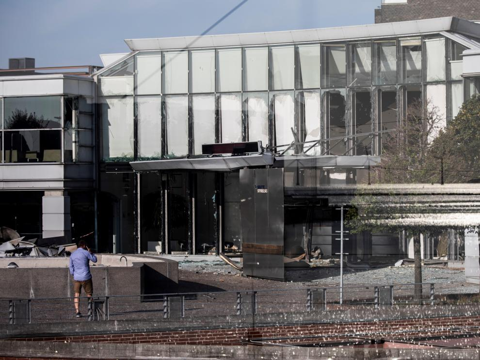 Explosión en la sede de la Agencia Tributaria de Copenhague.