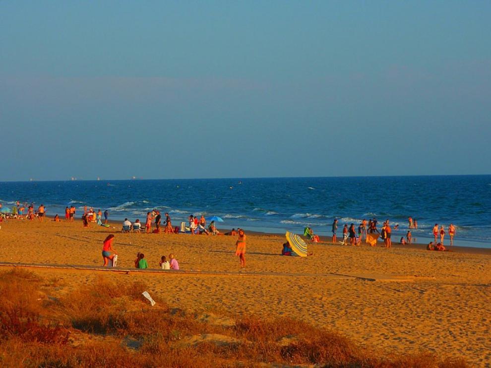 Playa de Punta Umbría (Huelva), lugar de la agresión.