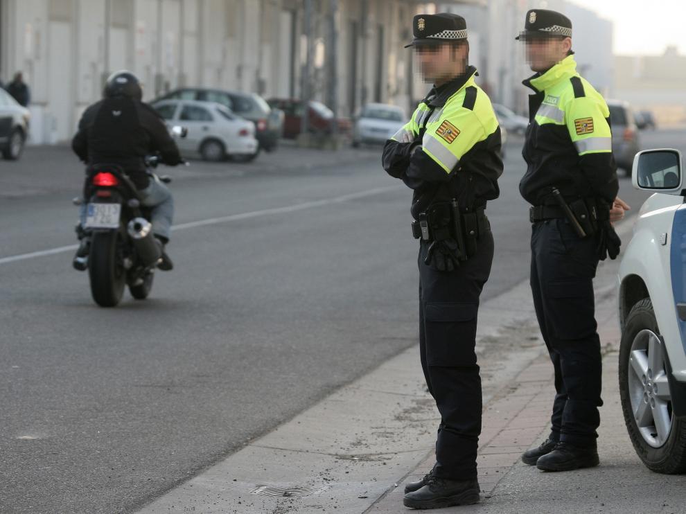 En la imagen, una patrulla de la Policía Local de Pinseque.