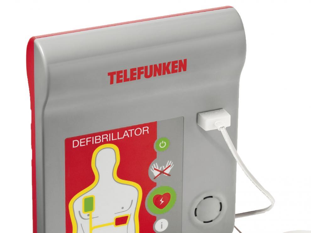 Un desfibrilador de la marca Telefunken.