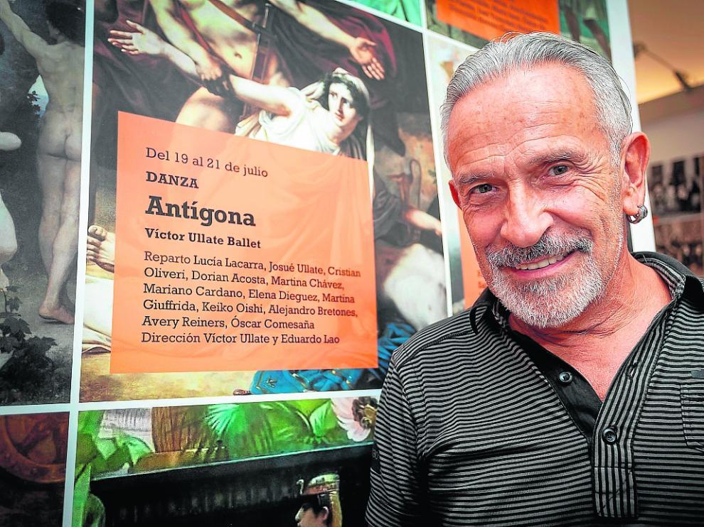 Víctor Ullate, el pasado julio, en la presentación de su último espectáculo, 'Antígona'.