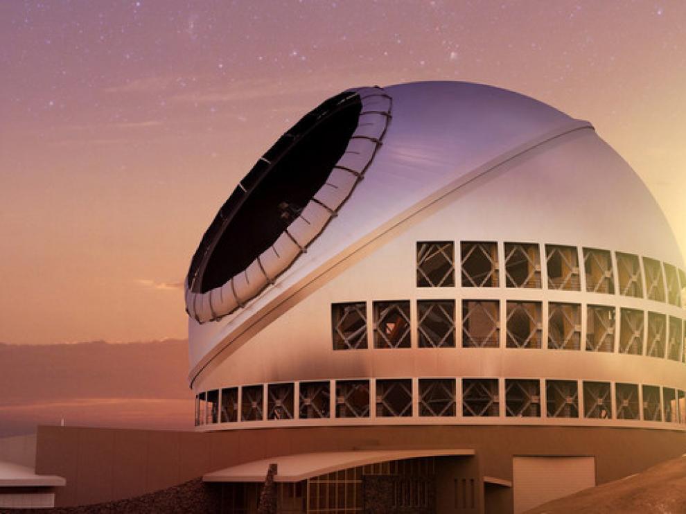 Representación artística del observatorio.