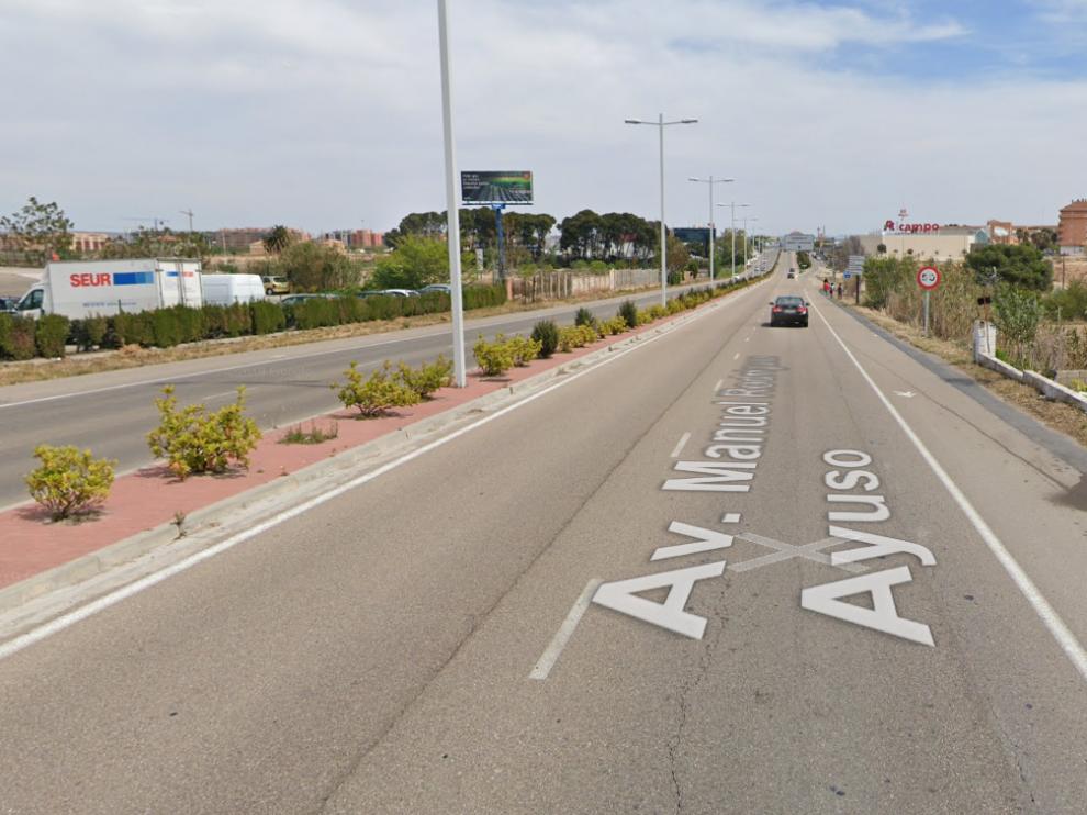 Avenida de Manuel Rodríguez Ayuso, donde la mujer de 35 años fue detenida.