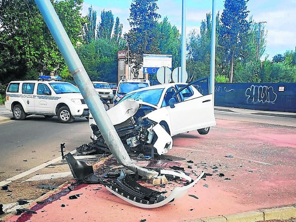 Imagen del vehículo implicado en el accidente.