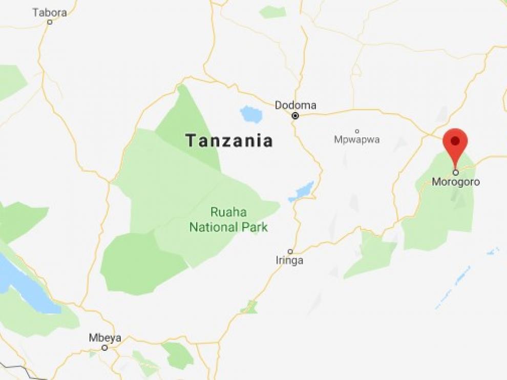 Morogoro, lugar del accidente en Tanzania.
