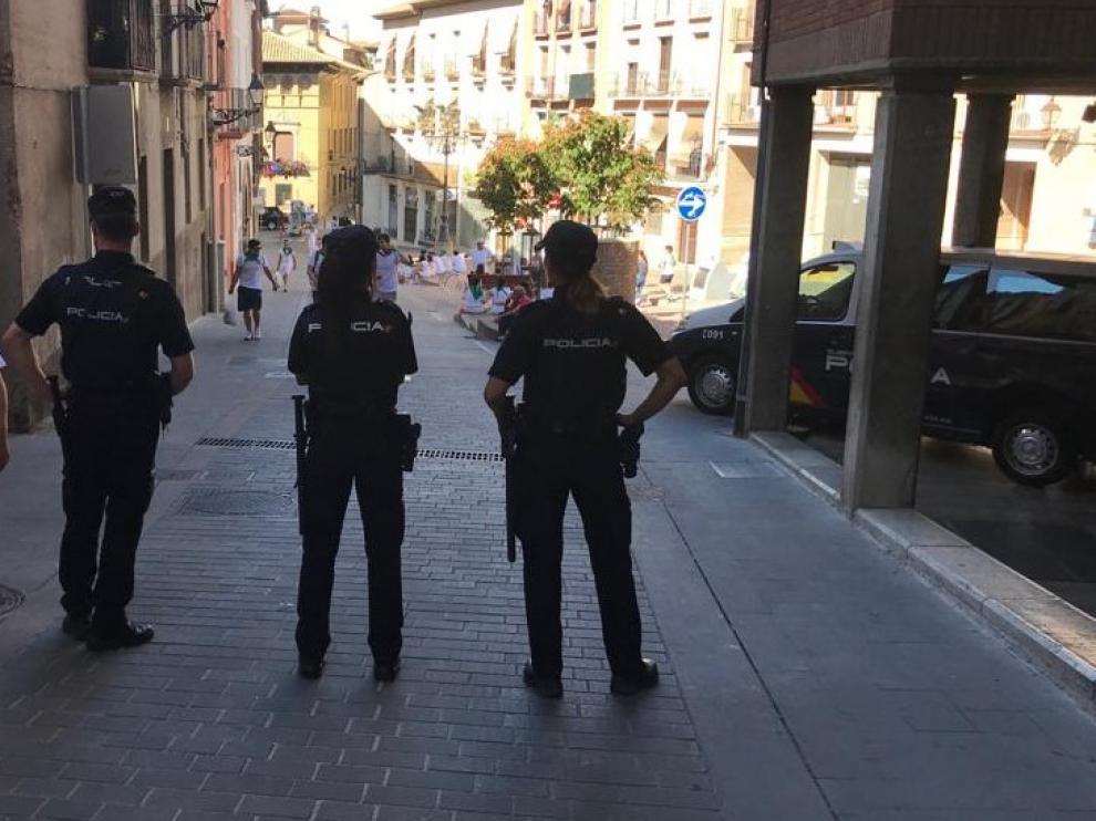 La Policía Nacional ha reforzado la seguridad estas fiestas.
