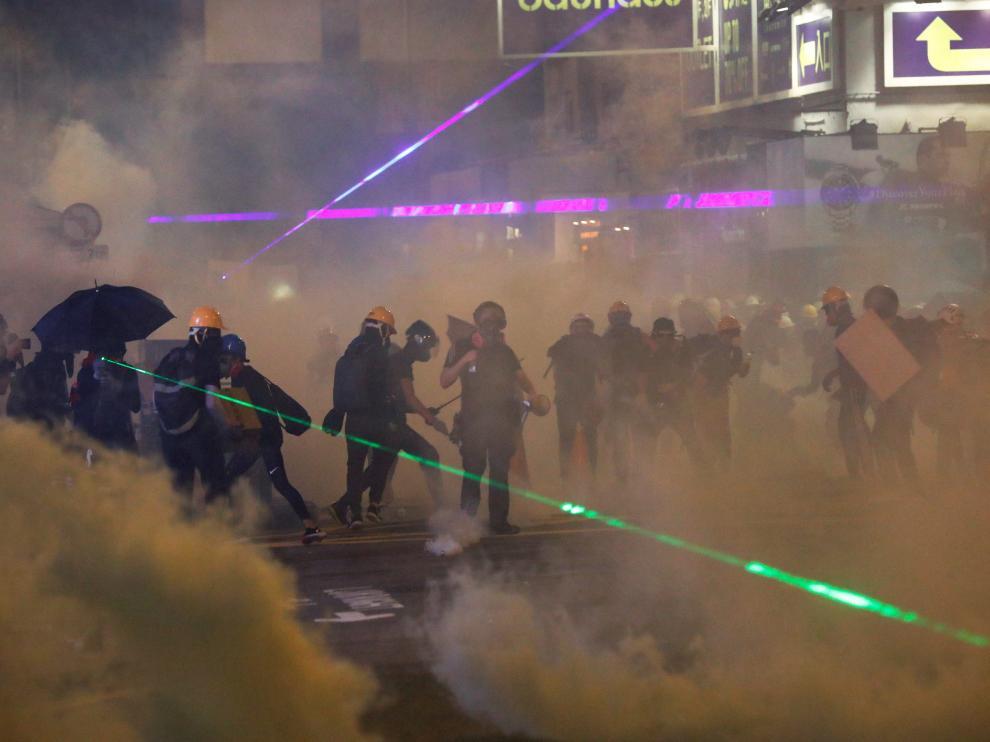 Manifestantes durante una protesta en Hong Kong, el pasado 4 de agosto