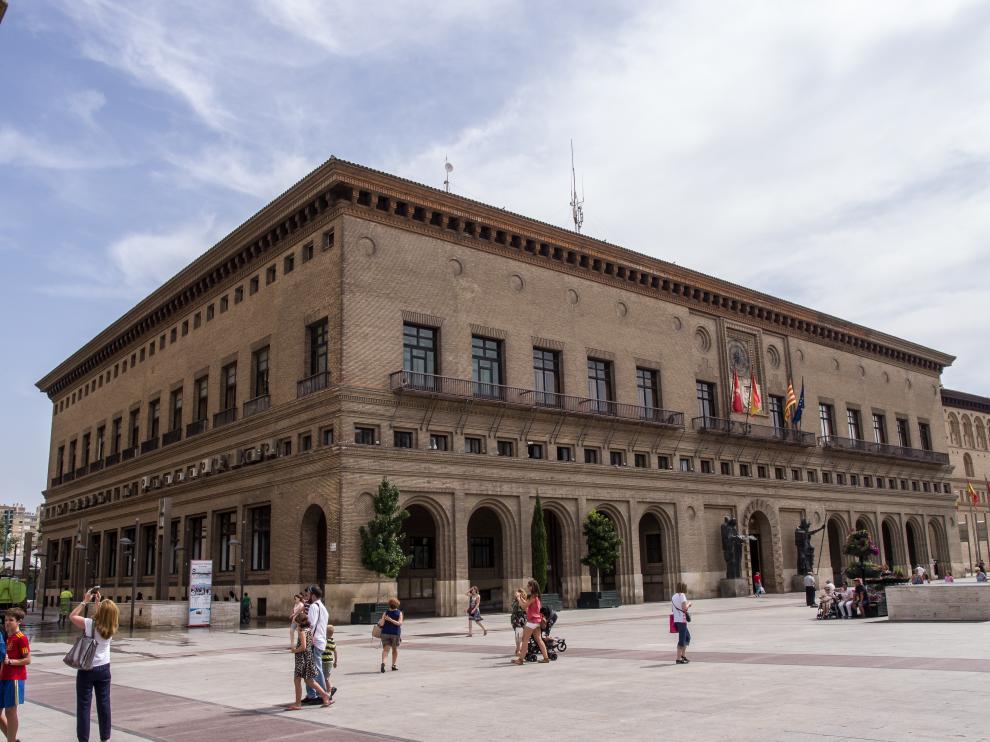 Ayuntamiento de Zaragoza, lugar desde donde se iniciará la marcha.