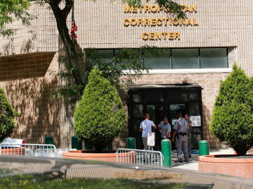 Imagen de la prisión federal de Nueva York en la que apareció muerto Hepstein.