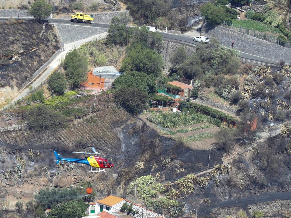 Evolución del incendio en Tejada (Gran Canaria).