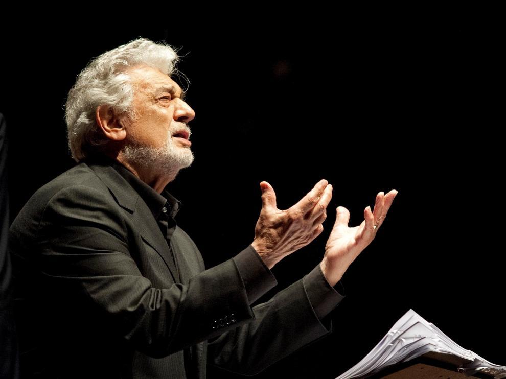 Foto de archivo del tenor español Plácido Domingo.
