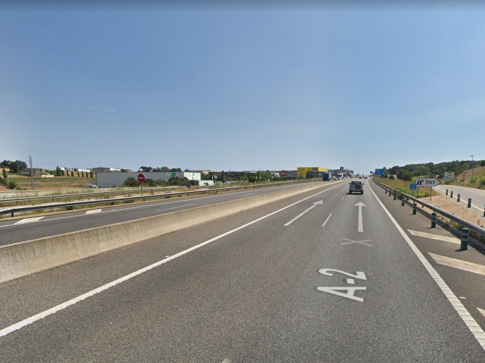 El suceso ha tenido lugar en la carretera A-2, a su paso por Riudellots de la Selva, en el kilómetro 707.