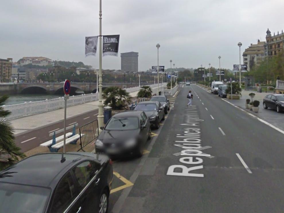 Calle República Argentina, donde se produjeron los hechos.