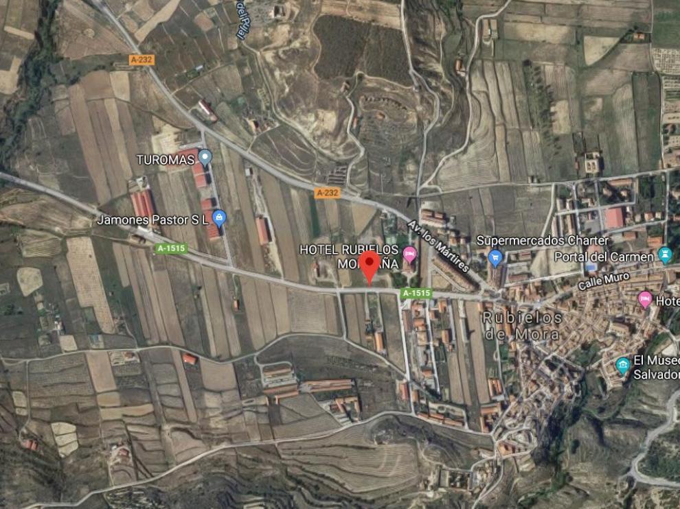 El accidente ha ocurrido a la altura del municipio turolense de Rubielos de Mora.