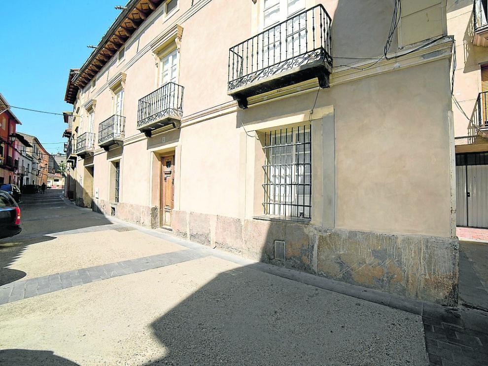 Zona del casco histórico que se busca mejorar con el Plan de la Almunia.