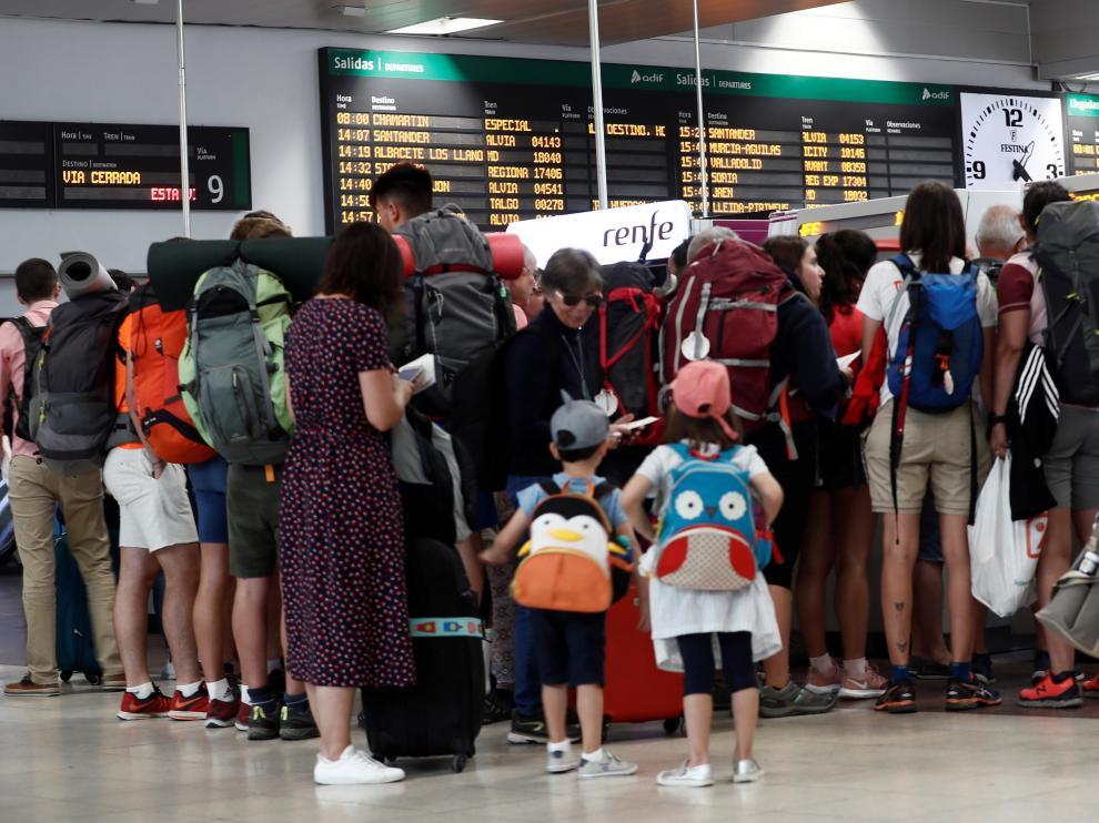 Los viajeros sufren las consecuencias de la huelga de Renfe