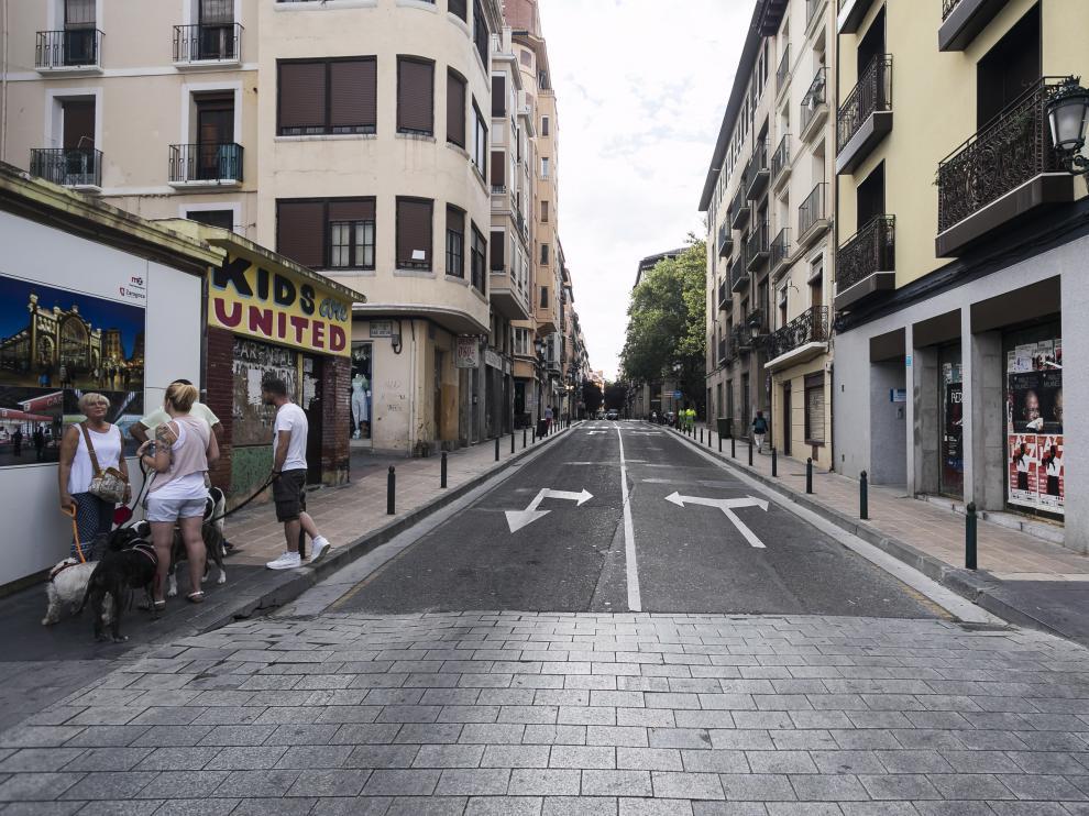 La calle de Manifestación quedó a las puertas de ser reformada.