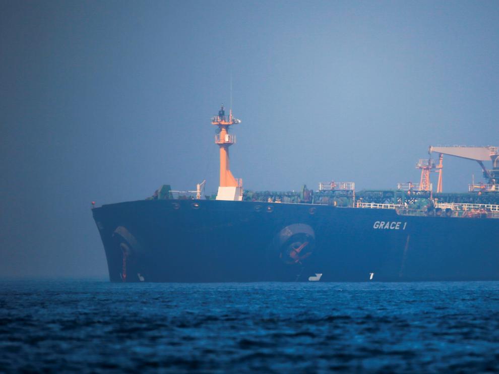El petrolero iraní 'Grace 1' estaba retenido en Gibraltar desde el pasado 4 de julio.