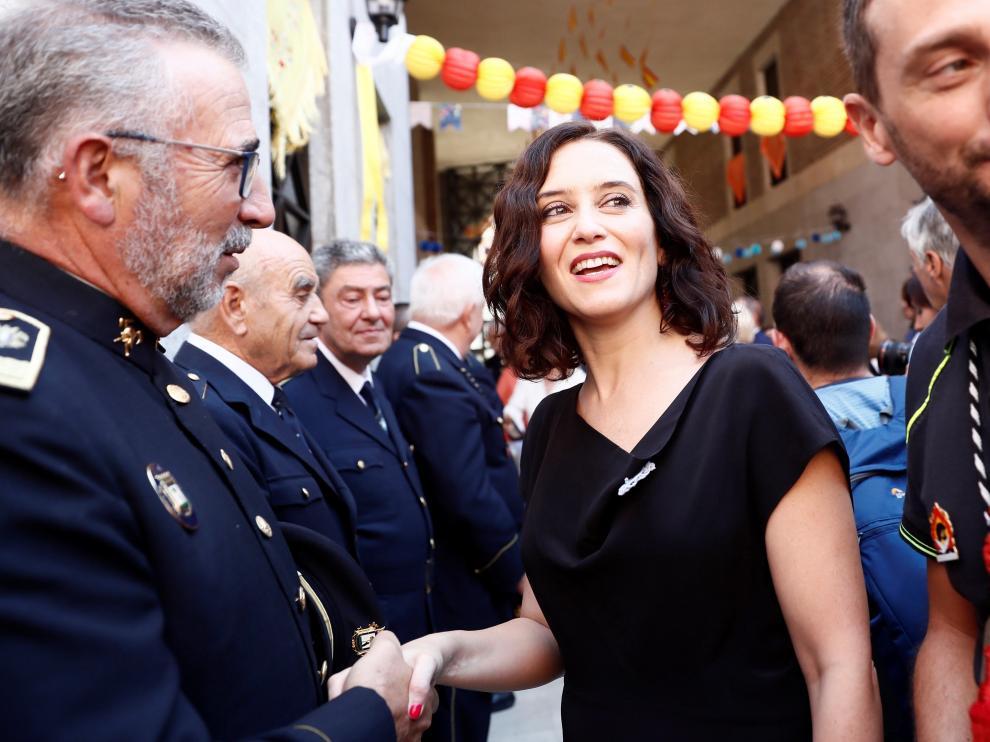 Isabel Díaz Ayuso, este jueves en los actos programados en honor a la Virgen de la Paloma.