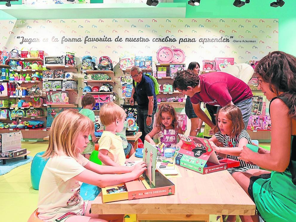 Nuevo formato de tiendas de Imaginarium que la marca estrenó en Grancasa en junio.