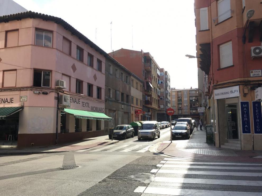 La calle Lastanosa, en el barrio de Las Delicias