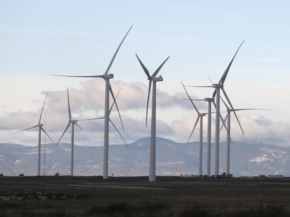 Parque eólico en el municipio oscense de Gurrea de Gállego.