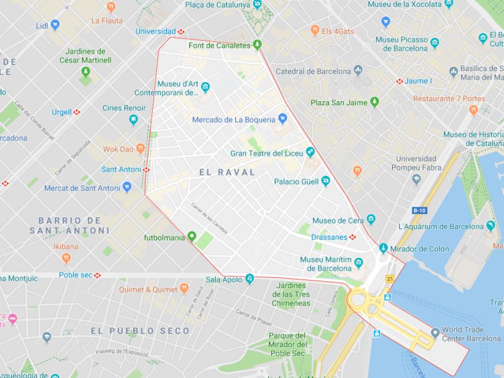 Los hechos han ocurrido en el barrio del Raval, en el distrito barcelonés de Ciutat Vella.