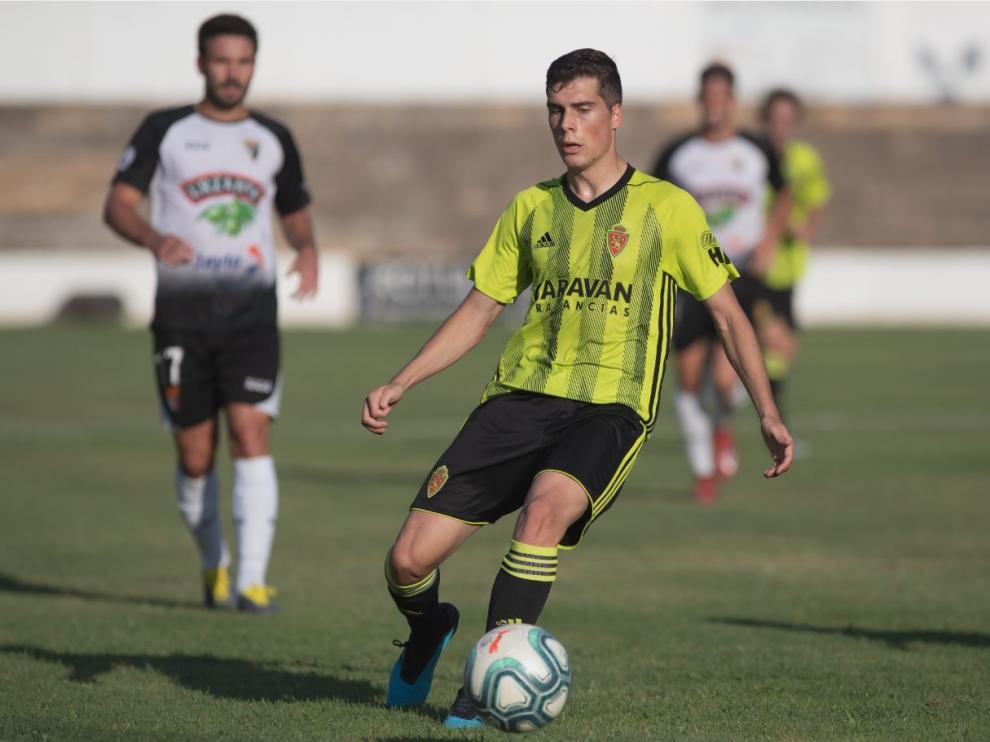 Soro, en el último partido disputado por el Real Zaragoza, el pasado sábado en Tudela como cierre de la pretemporada ante el CD Tudelano.