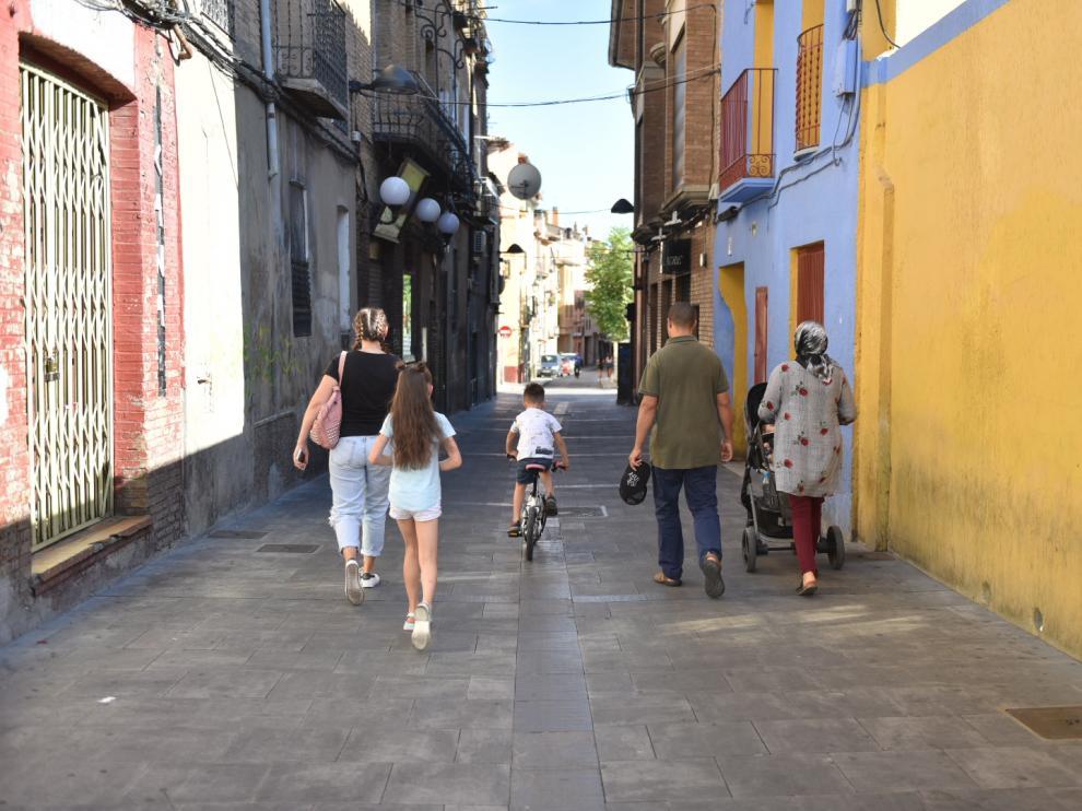 Calle San Lorenzo de Huesca.