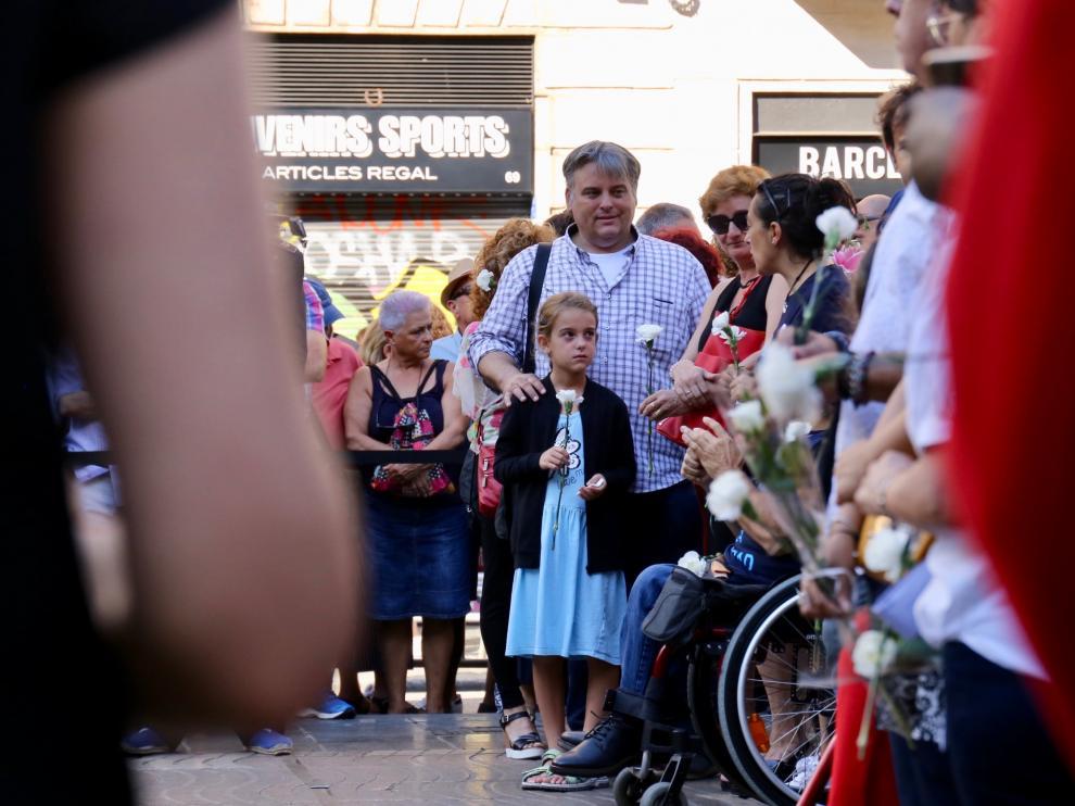 Homenaje en Barcelona a las víctimas del atentado del 17A en Las Ramblas.