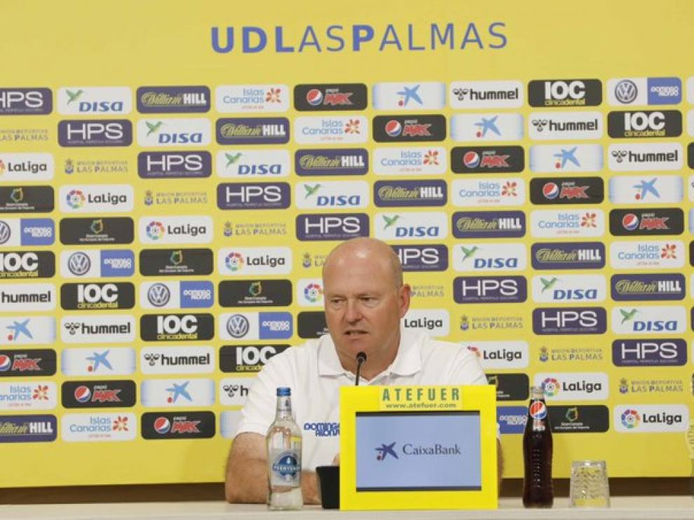 El técnico de la UD Las Palmas, Pepe Mel, próximo rival de la SD Huesca.