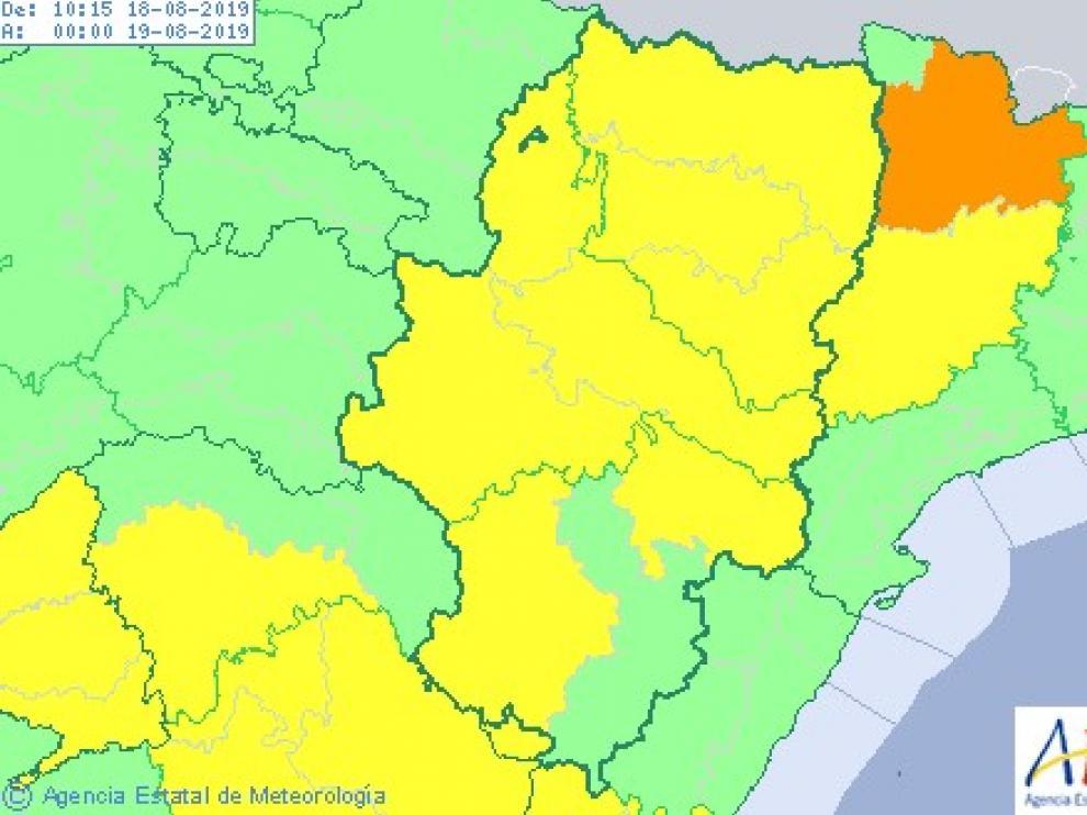 Sigue la alerta amarilla por altas temperaturas en casi todo Aragón
