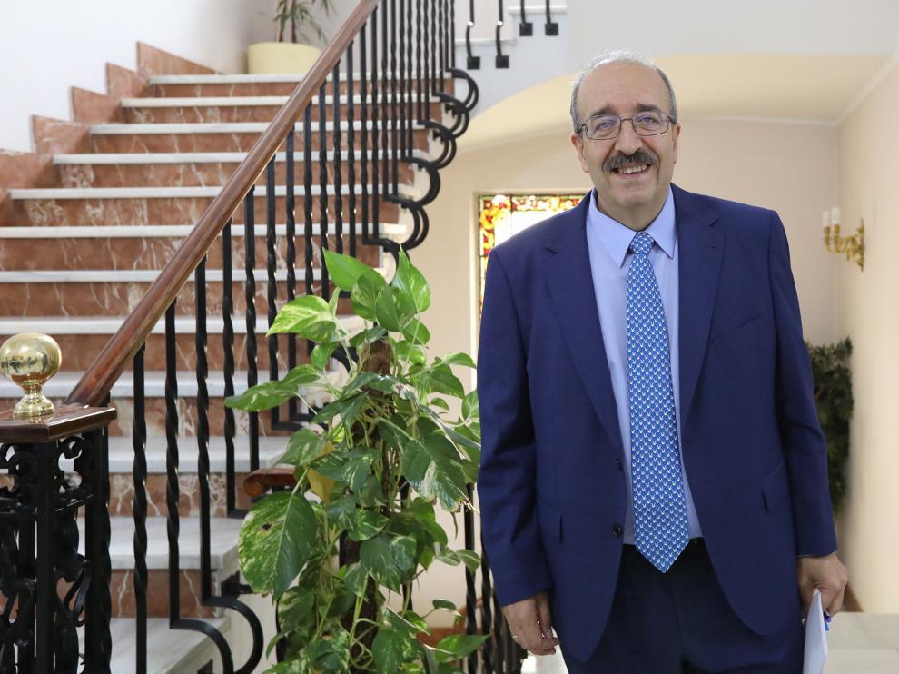 Manuel Rando, en la Diputación Provincial de Teruel.