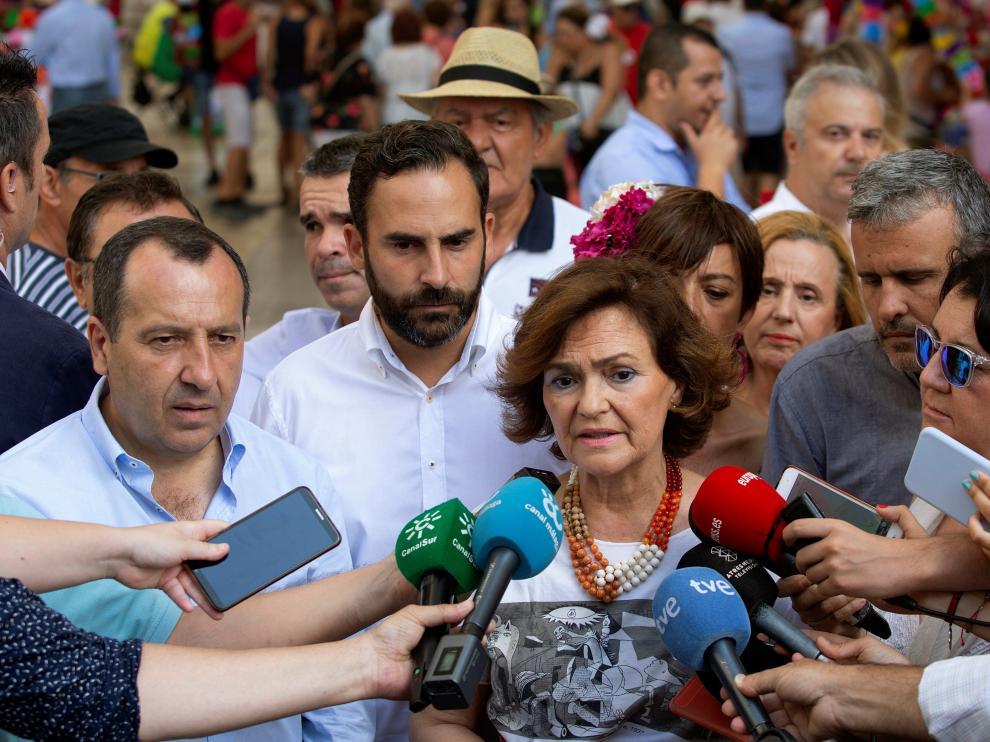 Carmen Calvo hace declaraciones acerca del Open Arms.