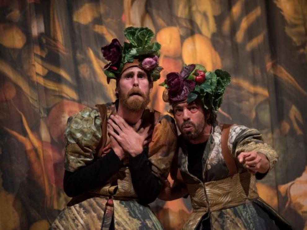 Interpretación de la 'Comedia Aquilana' en Festival de Teatro y Danza 'Castillo de Niebla' (Huelva).