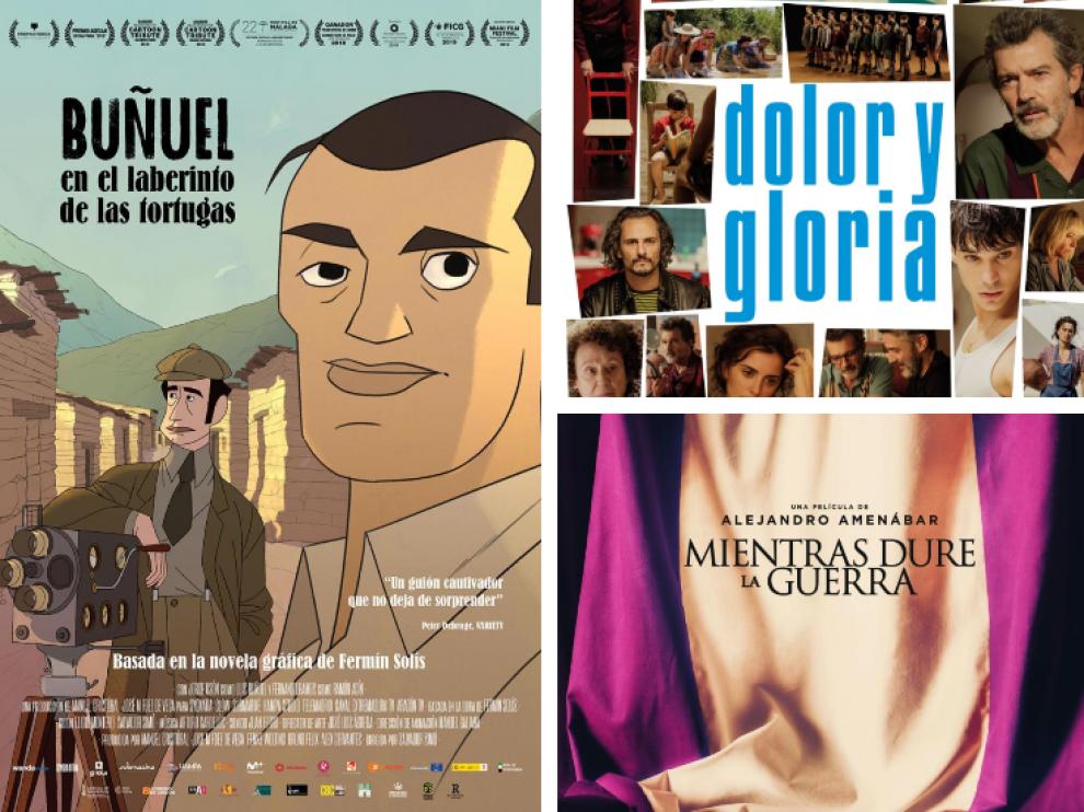 Carteles de las tres películas seleccionadas